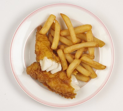 Seafood recipes for Baked fish and chips